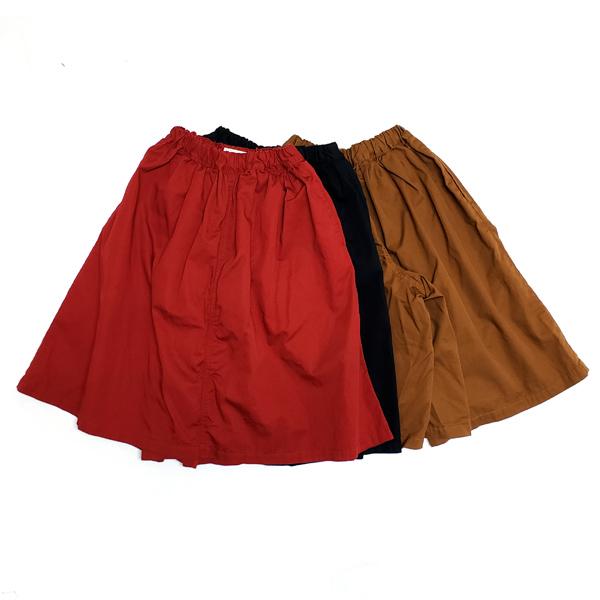 マインハイム 8分丈ギャザースカートパンツ